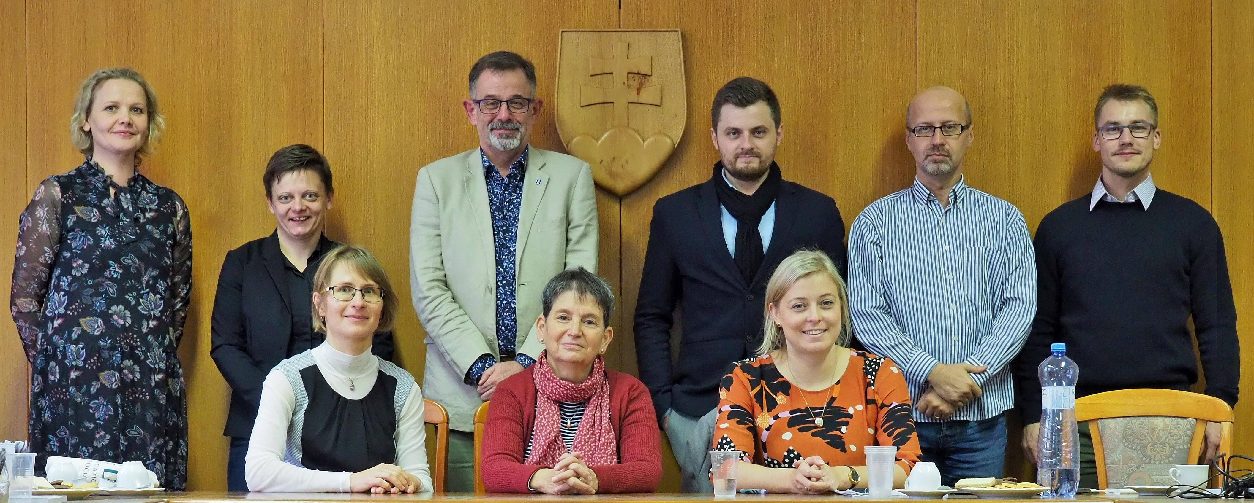 participants of the first transnational meeting of the project in Bratislava (November 2019)
